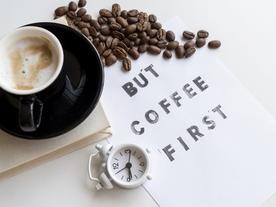 Eerst een bak koffie
